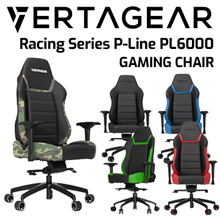 Vertagear Racing Series P-Line PL6000 Gaming Chair (Black/Blue/Red/Green/White Edition)