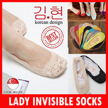 WOMEN SOCKS / Invisible Socks / LACE Loafer socks / long socks / ankle socks / boat shoe socks
