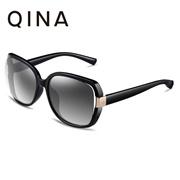 QINA Polarized Women Black Sunglasses Oversize UV 400 Protection Grey  Lenses QN3511 - intl 9cc32b3e0e