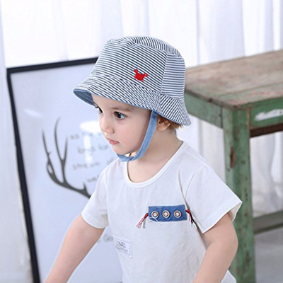 3d1ff2b52bcf4 [HUIXIANG] Baby Toddler Kids Sun Hat Striped Embroidery Baseball Cap for  Boys and Girls