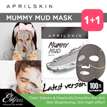[APRIL SKIN] Mummy Mud Mask 2 sheets/ april skin mask / Honey  Red Ginseng Mask