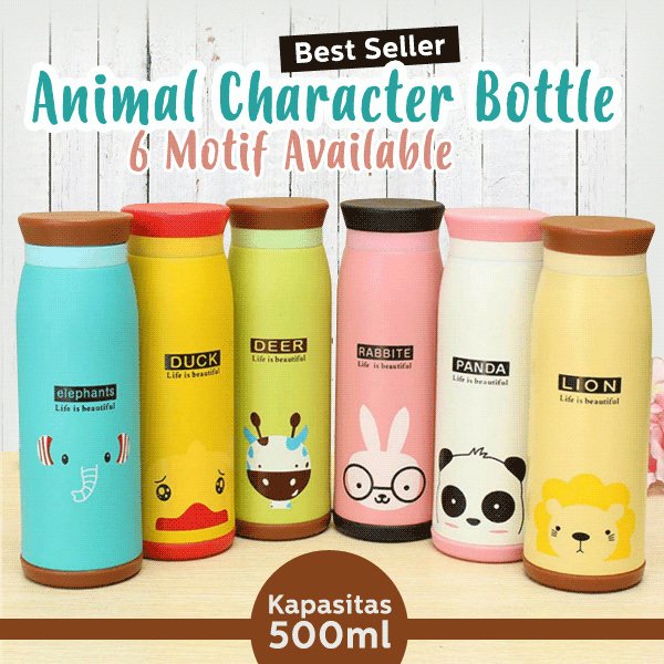 Botol Termos ANIMAL Karakter 500 ml Stainless Steel | NEW EDITION Deals for only Rp45.000 instead of Rp45.000