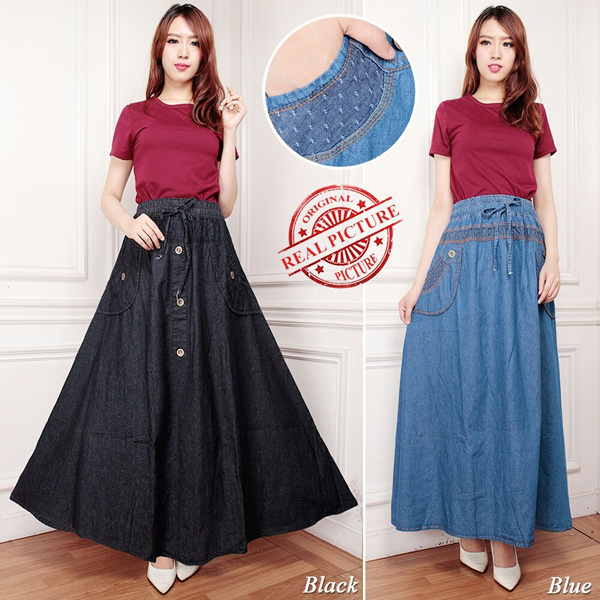 SB Collection Rok Payung Asnan Maxi Jumbo Jeans Woman Deals for only S$24 instead of S$0