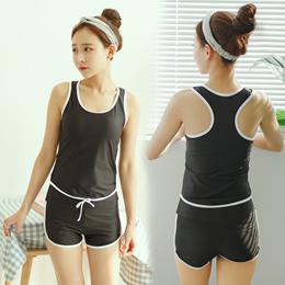 Swimsuit    /    Swimsuit for female students Korean split conservative swimming suit