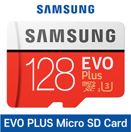 Samsung Micro SD Card EVO Plus 128GB with SD adapter