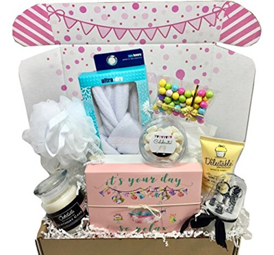 Hey Its Your Day Box Co Spa Bath Bomb Birthday Theme Gift Basket Box Her Women Mom Aunt Sister O