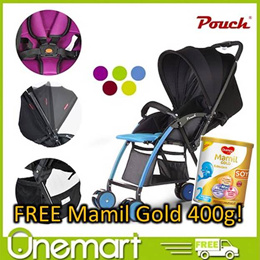 [POUCH]  Lightweight Foldable Baby Stroller ★ EASY TO USE ★ STURDY AND SAFE