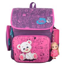 Delune New Cartoon Bear Backpack School Satchel Children School Bags Orthopedic Waterproof Backpacks Girls School Backpacks