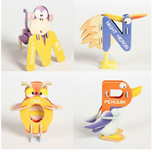 factory 26PCS/Lot 26 Letters Aminal Design 3D DIY Educational Early Learning ABC Baby Toys Paper Puz