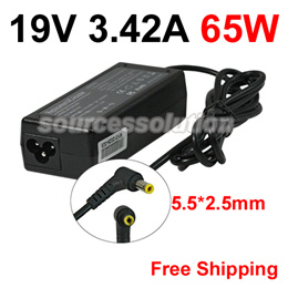 19V 3.42A★65W★5.5*2.5mm★Laptop Adapter For Asus★Toshiba★Lenovo★Notebook Power Supply Free Shipping
