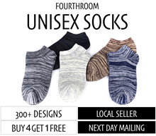 [SALE 4+1] =Renewed= SOCKS Woman Man /Invisible Boat Ankle / Happysocks/ Shoe [Fourthroom]