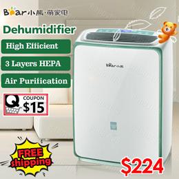 Countdown SaleBear High Efficient Dehumidifier Full Automatic with Wheels HEPA Air Purifier
