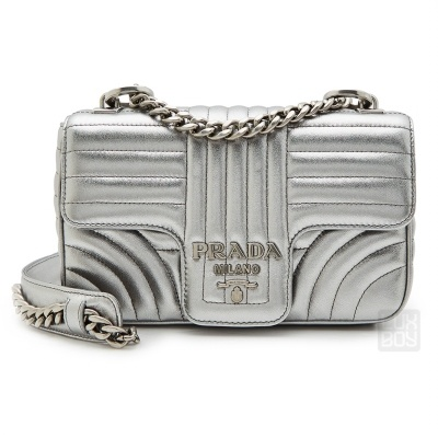 943b8617f08679 [PRADA] Diagramme Mini 1BD107 2B0X F0135 Woman Chain Shoulder Bag