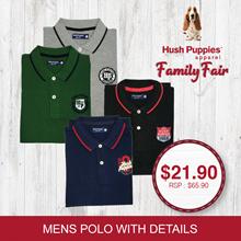 Hush Puppies Mens Seasonal Polo Tee with Details