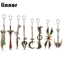 Linnor 11 Styles Game LoL League of Legends Weapon Keychain Riven Leona Soraka Irelia Nautilus