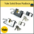 Yale Solid Brass Padlock - Y1800/80/117/1 Black and Silver