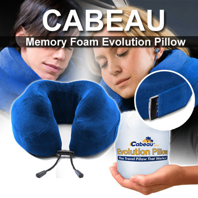qoo10 cabeau memory foam evolution pillowthe travel pillow that works bag wallet - Cabeau Evolution Pillow
