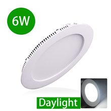 LED Light 6W LED Round Downlight Recessed Slim Panel Light Ceiling Light Lamp Home Shop Office Low C