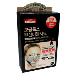 Mediheal Mogongtox Soda Bubble Masks Packs 15ml 10 Sheets Korean Cosmetics Facial Skin Care Face Wash Carbonated Pores Cleansing Blackheads Peeling Massage