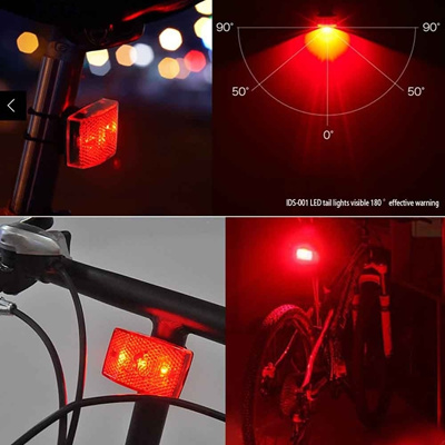 LED 7Mode Waterproof Back Seat Super bright Red Safety Lamp for Cycling Bicycle