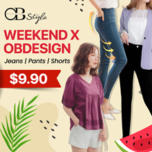 WEEKEND X OBDESIGN 👑  WOMEN DRESS ★ SLIMMING -5KG CASUAL JEANS PANTS SHORTS ★ TOPS ★  MANY DESIGN
