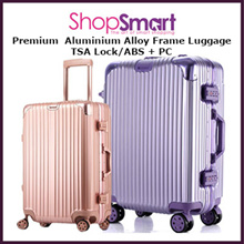*APPLY Qoo10 COUPON*Travel Aluminium Alloy Frame Luggage|Zipless Suit Case| TSA Lock|20 26 29 Inch