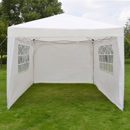 10 x10  Outdoor Canopy Party Wedding Tent Heavy Duty Gazebo Pavilion White with 4/3/no Walls