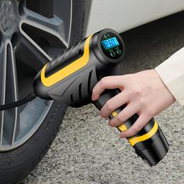 汽车轮胎打气泵 手持无线充气泵 带灯数显车载充气泵便携式打气筒