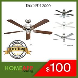 [HomeApp] ★★ FANCO FFM 2000 ★★ Ceiling Fan 52 inch. Light Kit / Installation. LIFETIME Warranty.