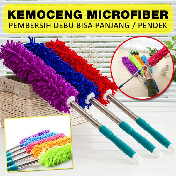Kemoceng Microfiber Cendol Pembersih Debu Bisa Panjang Pendek Random Warna Deals for only Rp39.500 instead of Rp39.500