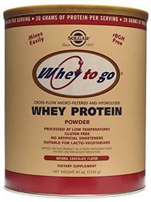 💖$1 Shop Coupon💖  Solgar - Whey To Go Protein Powder Natural Chocolate Flavor 41 oz