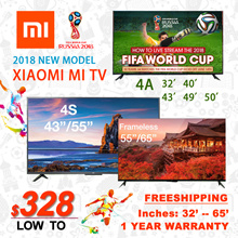 $50Coupon★ 2018 new model★ 1 year warranty Authentic Xiaomi Mi TV4S/4/4A  32/40/43/49/55/65inches
