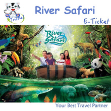 【99 TRAVEL】River Safari e-ticket- Admission + Boat ride河川生态园+船票