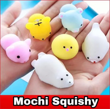 New Squishy mochi  keychain kawaii cute animal cartoon anti stress toy
