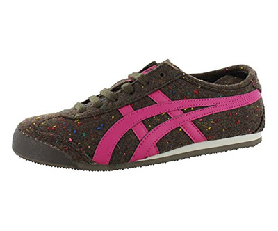 save off 9be83 f655f Onitsuka Tiger Womens Mexico 66 FE Lace-Up Fashion Sneaker,Speckled  Brown/Pink,9.5 M US Womens