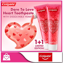 [Colgate] Limited Edition Dare To Love Heart Toothpaste [130g x 2 tubes]
