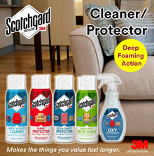 3M Scotchgard™ Cleaners and Protectors - Fabric / Upholstery / Carpet / Rug /Outdoor