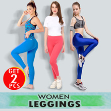 [WOMEN LEGGINGS] BUY ONE GET ONE WOMEN MANY COLOR LEGGING AVAILABLE size FREE SIZE