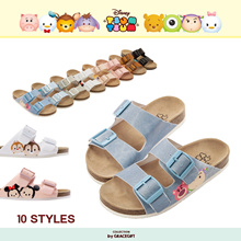 Gracegift-Disney Tsum Tsum Double Belt Sandals/Women/Ladies/Girls Shoes/Taiw