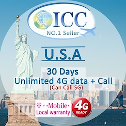 ◆ ICC◆【U.S.A America Sim Card·7/10/12/15/20/30 Days】4GLTE Speed+Unlimited data/call❤ Unlimited call