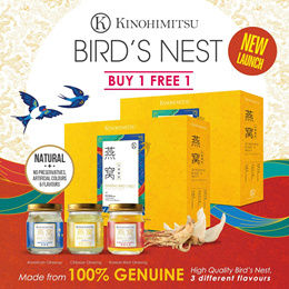 [NEW LAUNCH]💎PERFECT GIFT💎 Kinohimitsu Bird Nest with Ginseng 6s x 2 -contains 3 different Ginseng