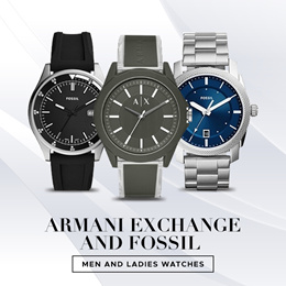 *SG SELLER* ARMANI EXCHANGE FOSSILS MEN AND LADIES WATCH SALE [FREE DELIVERY]