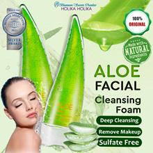 💦 Korea Holika Holika Aloe Facial Cleansing Foam 150ml 💦 Jeju Organic Aloe Vera 💦 Remove Makeup