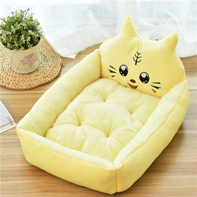 Large Rectangle Pet Bed,Small Medium Dogs Mat Cushion Washable Kennel Pads Soft Comfy Cartoon Sofa Couch Pet Supplies