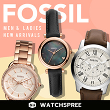 FOSSIL Leather and Stainless Steel Watches for Men and Ladies.