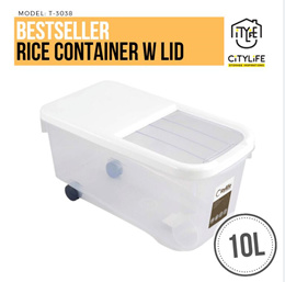 Citylife Rice Container with Sliding Lid 10L