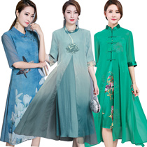 【PREMIUM 】2018 CNY Qipao / Traditional Erthnic Embroidery SILK FASHION RED DRESS