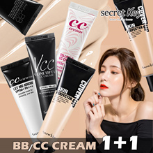 【SecretKey Half-yearly Super Sale】❤BB/CC CREAM 1+1❤Perfect skin makeup/Suit any skin tone/Pore cover