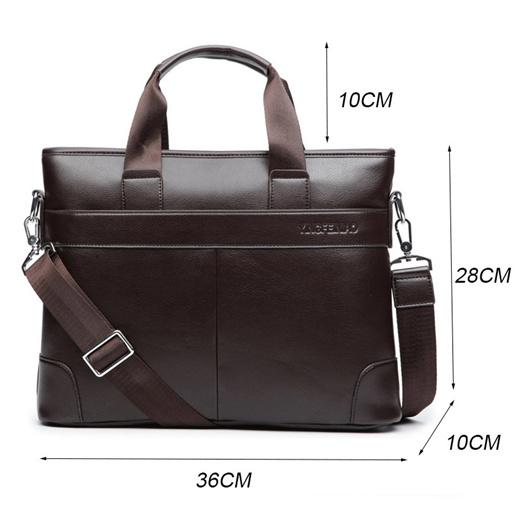 Laptop Bag Mens Large Capacity Zipper File Bag Zhouminli Vintage Leather Tote Briefcase Business Briefcase