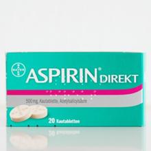 Germany Bayer aspirin direct 500mg 20 tablets
